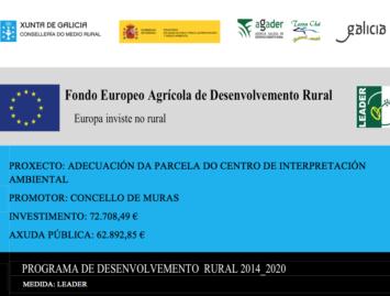 Concello de Muras | Proxecto adecuación parcela Centro de Interpretación Ambiental |